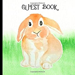 Guest Book: Gorgeous Rabbit Theme Party Guest Book Includes Gift Tracker and Picture Memory Section (Rabbit Party Guest Books)