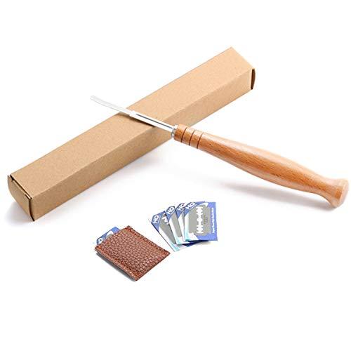 feichang Bakeware & Accessories - Kit de herramientas para hornear pan de 22,8 cm para banneton de prueba de canastas para plantillas de bolsa de curva