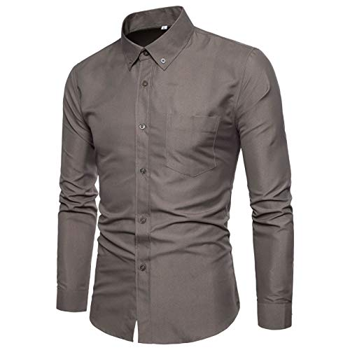 Yellow corn Camisa de camuflaje de manga larga para hombre casual de negocios