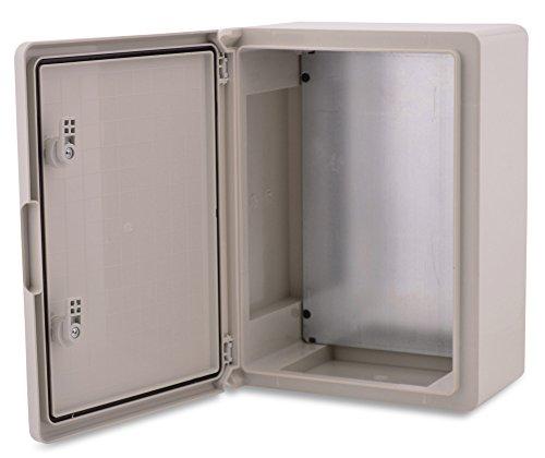 Caja de plástico ABS BOXEXPERT Caja de control de la flota IP65 gris/transparente (ABS, 350x250x150mm gris)
