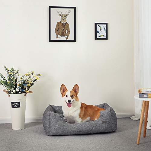SONGMICS Hundebetten innenkissen Beidseitig Verwendbar mit unten einen Anti-Rutschboden M Außenmaße :80 x 60 x 26 cm PGW26G - 7