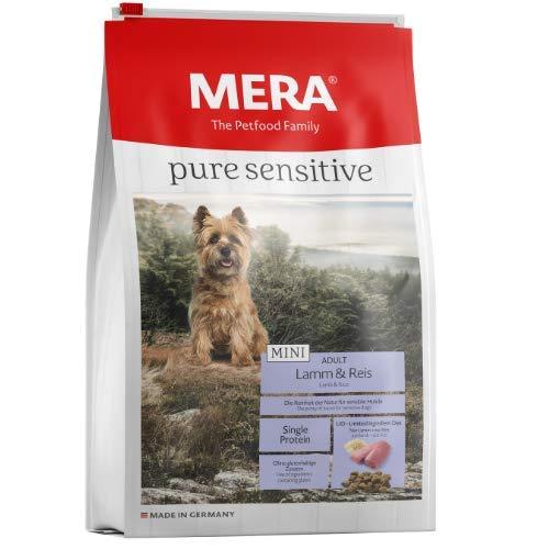 MERA pure sensitive Mini Adult Lamm und Reis Hundefutter – Trockenfutter für die tägliche Ernährung kleiner nahrungssensibler Hunde – 1 x 4 kg