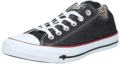 Converse Unisex-Erwachsene Chuck Taylor All Star Sneaker, Schwarz (Black/White/Garnet 000), 39.5 EU