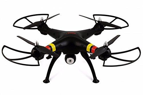 SATKIT Negro - Quadcopter Drone SYMA X8W FPV Explorers 2. 4GHz 4CH 6Axis Gyro RC con Camara HD Y WiFi
