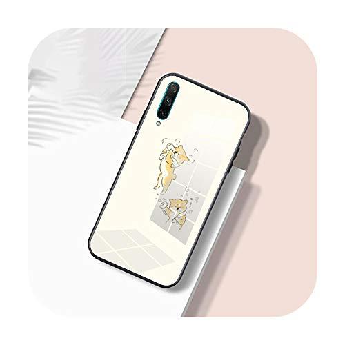 Funda de Vidrio suave Para Huawei Honor 30 20 10 Lite Pro 10i 20i 9a 8a 8x Cubierta de dibujos animados lindo Shiba Inu-patrón 10-Para Honor 8a