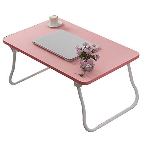 Schreibtisch Bett tablett, Computer Schreibtisch, einfache Hause Mini leuchttisch, Vier Farben zur Auswahl, 50 * 30 * 23 cm (Farbe : Pink)