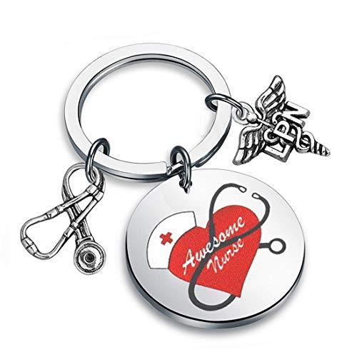 Zuo Bao Nurse RN Jewelry Awesome Nurse Bracelet Thank You Nurse Gift Medical Symbol Charm Jewelry Stethoscope Color Bracelet Nurses Day Doctor Jewelry Gift (LPN S- K)