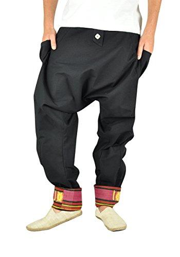 virblatt – Haremshose Herren Goa Hose Pumphose Pluderhose als Hippie Alternative Kleidung - Freudentanz sch LXL