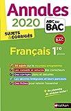 Bac français annales
