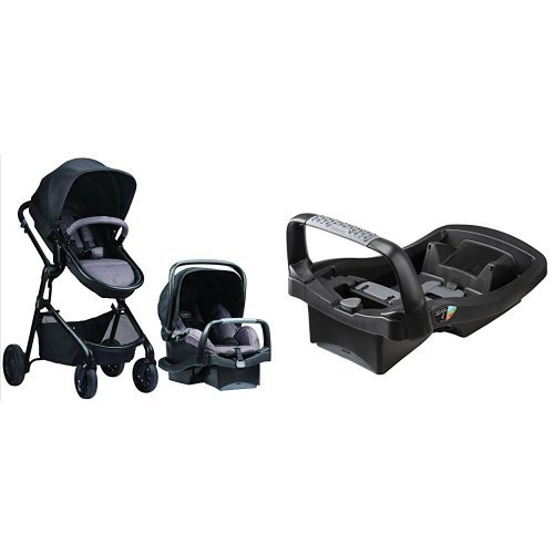 Evenflo Pivot Modular Travel System with SafeZone Base for SafeMax Infant Car Seat
