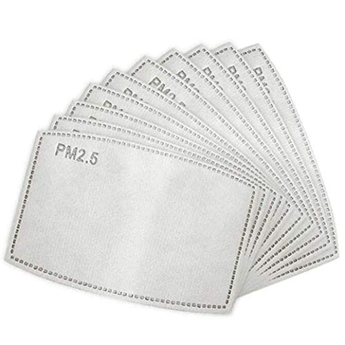 FLOWZOOM Filtre masque tissu - 15 pièces | Filtre masque PM2.5| Compatible avec le masque Filtre charbon actif à 5 couches | Taille L