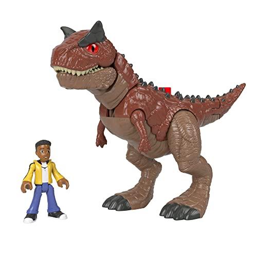 Fisher-Price HCH99 - Imaginext Jurassic World Neue abenteuer: Carnotaurus Toro & Darius, ab 3 bis 8 Jahren