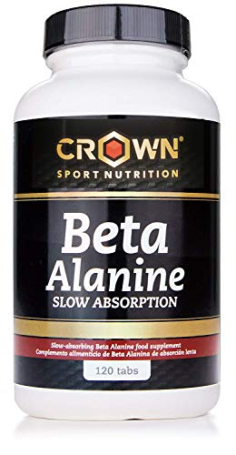 Crown Sport Nutrition Beta Alanina Slow Absorption, Ayuda a reducir la parestesia, Suplemento para deportistas - 120 comprimidos