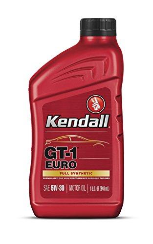 Kendall 1075015-12PK GT-1 Full Synthetic Euro 5W40 Motor Oil, 1 Quart, 12 Pack