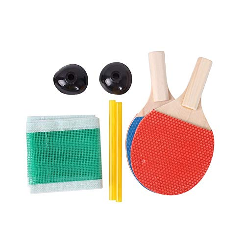 Review ZKWSJNGD Children Under Mini Table Tennis Racket Ball ping-Pong Table Tennis Bats Beat Childr...