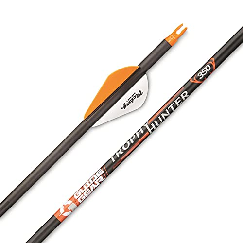 Guide Gear Trophy 31-Inch Carbon Archery Hunting Arrows, 500 Spine Practice Target Arrow for Compound and Recurve Bow by Victory Archery, 6 Pack, 350