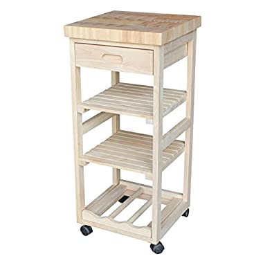 International Concepts WC-1515 Kitchen Trolley, Unfinished