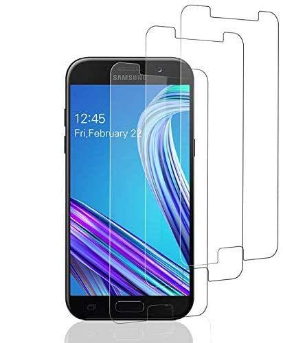 Aspiree 3 Unidades Vidrio Templado Samsung Galaxy A5 2017, Protector Pantalla Samsung Galaxy A5 2017 [Funda Compatible] Cristal Templado con [Anti-Huella Anti-Burbujas] [Premium 9H Definición]