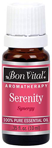 Bon Vital' Aromatherapy Serenity Essential Oil, Undiluted Therapeutic Aroma Oil for Aroma Therapy Diffuser or Aroma Diffuser Necklace,Therapy Oil for Calming, Soothing, Relaxing Synergy, 10 mL