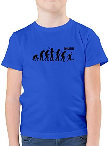 Evolution Kind - Evolution Basketball - 116 (5/6 Jahre) - Royalblau - Jungen t Shirt Basketball - F130K - Kinder Tshirts und T-Shirt für Jungen