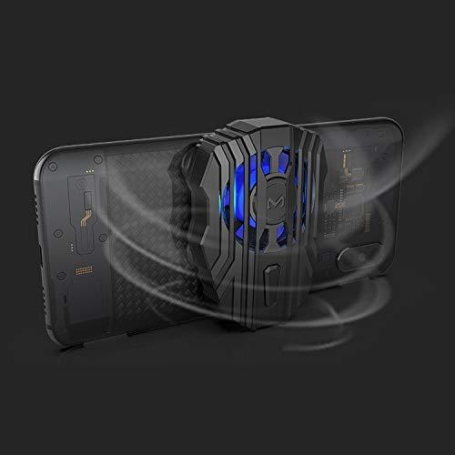 Gamepad-Fan Sehr praktisch MeMo FL01 Micro USB aufladbare Saugnapf Typ Handy Kühl Griff mit DREI-Gang-Adjustable Mute Glare Fan, Geeignet for Mobiltelefone über 50 mm Breite