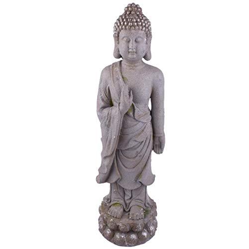Dadeldo Home Buddha -Tempting Asia- Deko-Figur Clayfibre 86x25x23cm grau