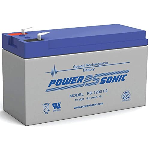 Power-Sonic PS-1290 12 Volt 9 Amp Hour Rechargeable SLA Battery (F2 Terminals)