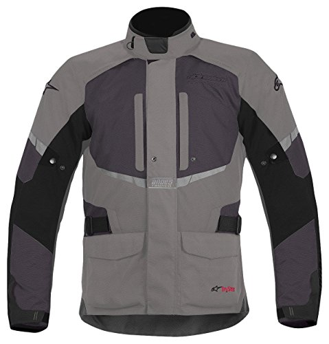 "Alpinestars Motorrad-Jacke ""Andes Drystar"", Herren Damen, 3207513921L, grau / schwarz"