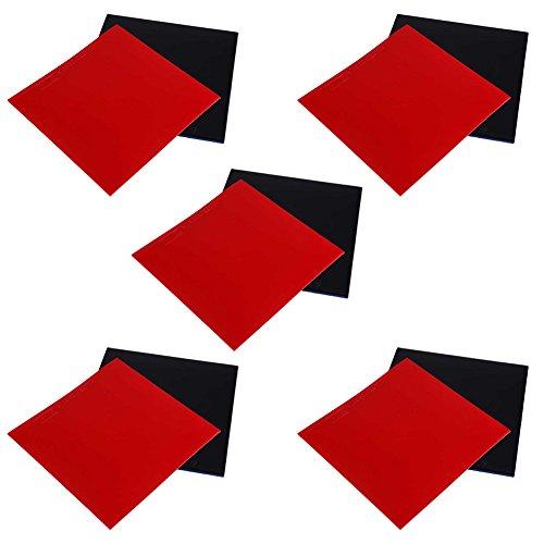 Forfar 10Pcs Ping Pong Caucho Caucho de tenis de mesa Goma de reemplazo de murciélagos de tenis de mesa Hoja de goma para el tenis de mesa