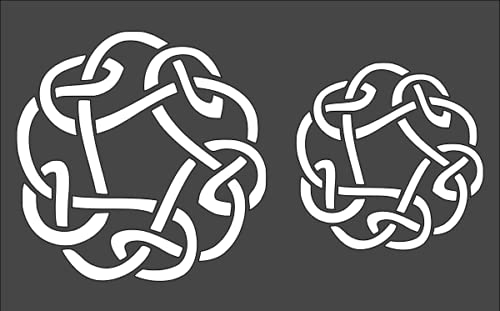 5x8 Celtic Knot Ring 4' & 3' Stencil Celtic Stencil Reusable Celtic Painting Stencil Large Celtic Stencil Celtic Design Stencil by BSHOPAMZ