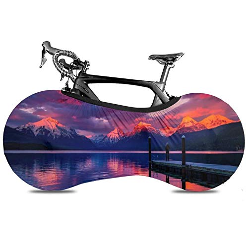BYTKMRY Beautiful Clouds Bicycle Wheel Cover, Anti-Dust Bike Indoor Storage Bag Scratch-Proof Washable High Elastic Tire Package Fit All Bicycles Protective Gear Garage
