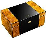 Accessoires fumeurs, La boîte à cigares peut contenir 150 cigares de grande capacité Double couche Déshumidificateur réfrigéré Déshumidificateur silencieux Cadeau Cadeau Homme Coffret Décoratif (Coule