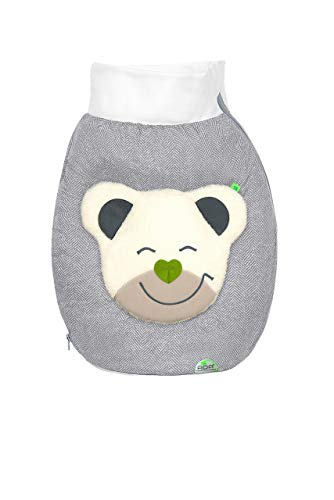 Odenwälder BabyNest Mucki Outdoor-Nestchen für Babyschalen new woven soft grey