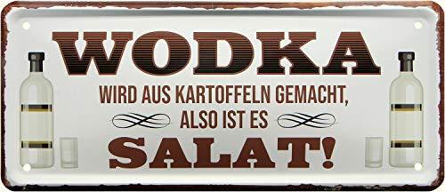 Wodka wordt gemaakt van aardappelen, dus salade 28 x 12 decoratieve metalen bord 2033