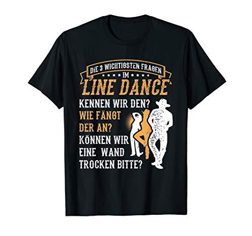 3 Fragen Line Dance Tänzer Cowboy Western Country Tanzen T-Shirt