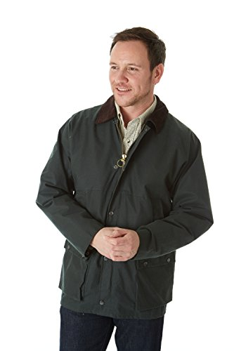 Traditional 31-Inch Sherwood Forest Wet Wax Jacket Gris Taille 5XL