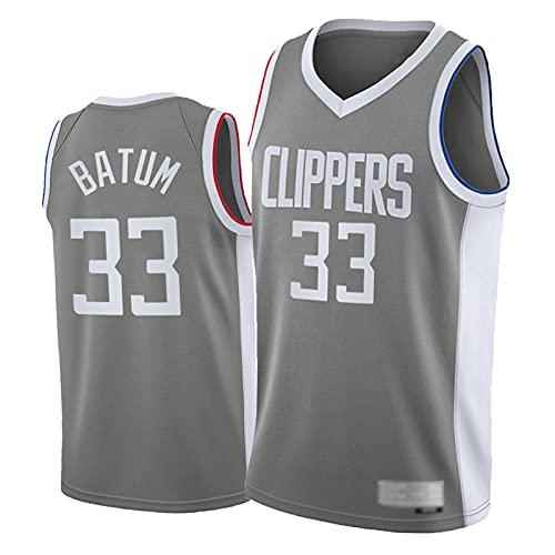 FRQQ Clìppèr 33# Nicólás Bátūm Camiseta de baloncesto para hombre, edición ganada 2020-2021 Jerseys Chaleco, ropa deportiva al aire libre floja más talla M
