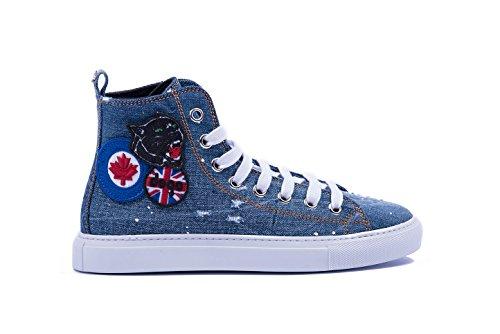 Dsquared2 Herren Basquettes High Top Sneakers, - denim - Größe: 44 EU