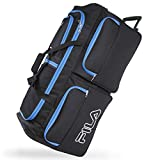 Best Rolling Duffels - Fila 7-Pocket Large Rolling Duffel Bag, Black/Blue, One Review
