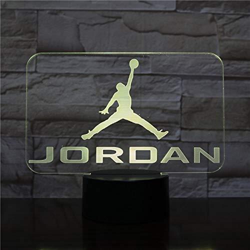 Basketball Jordanien Nachtlichter Jungen Kinder Kinder Fans Geburtstagsgeschenke Multicolor Tischlampe Schlafzimmer