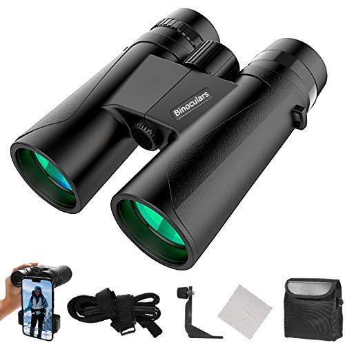 RAYROW Fernglas 12x42 HD Kompakt Ferngläser für Erwachsene und Kinder,Kleines Fernglas für Vogelbeobachtung,Wandern,mit BAK4-Prismen,FMC-Linse inkl. Tragetasche, Tragegurt und Smartphone-Adapter