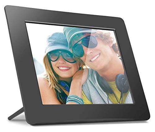"""Porta Retratos Digital Aluratek com LCD de 8"""", Entradas USB e Cartão SD - Preto"""