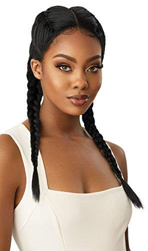 Outre LACE FRONT WIG SWISS X-DOUBLE FRENCH 4 PART BRAID Heat Resistant Vixen Cap Contruction Pre-Plucked Pre-Styled Comfortable Wear Easy Maintenace - ALEKA YAKI (DR27613)