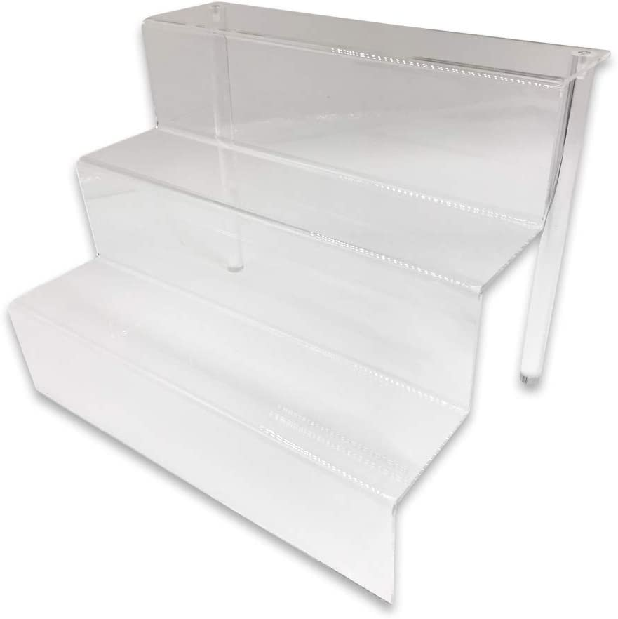 Regular store 888 Display Three-Tier Cheap mail order shopping Acrylic Step and Ultra Vers Clear