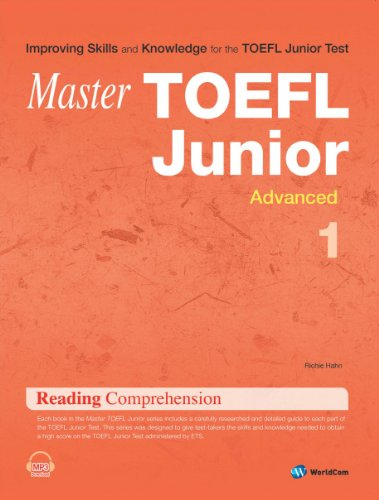 Master TOEFL Junior Reading Comprehension Advanced. 1 (Korean edition)