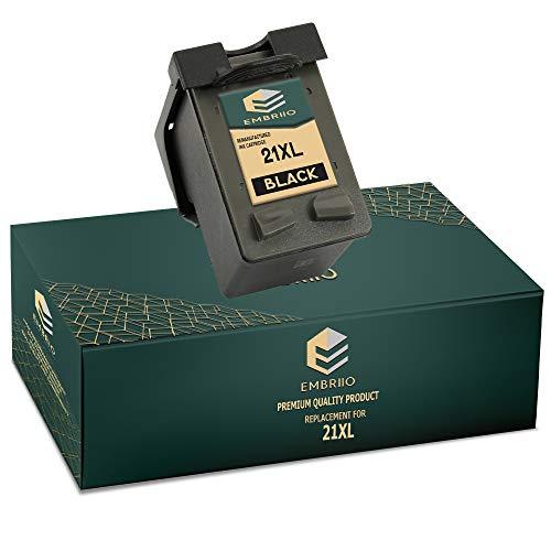 EMBRIIO 21 21XL Negro Cartucho de Tinta Reemplazo para HP Deskjet F2120 F2180 F2280 F335 F375 F380 F390 F4180 F4190 3940 D1460 D1530 D2360 D2460 Officejet 4315 4355 PSC 1410 1415
