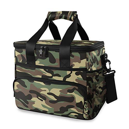 DEZIRO Borsa termica per il pranzo militare con stampa mimetica grande aperta borsa termica borsa frigo 15L