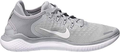 Nike Womens Flex 2017 Rn Low Top Slip On Running, Wolf Grey/White/Volt, Size 7.5
