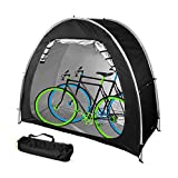 TIM-LI Cubierta De Bicicleta Portátil Refugio/Carpa De Camping Plegable para Bicicletas, 210D Carpa De Almacenamiento De Bicicletas Oxford con Revestimiento Impermeable para Exteriores,Negro