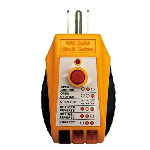 Balain Tools, Steckdosen-Tester, Steckdosendetektor für Standard-Wechselstrom-Steckdosen, automatischer elektrischer Stromkreis, Polaritätsmessung